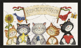 Purr On Counted Cross Stitch Kit By Design Works