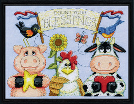 Barnyard Blessings Counted Cross Stitch Kit By Design Works