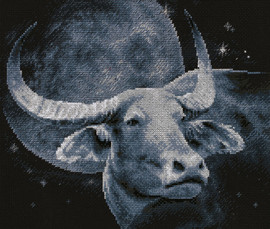 Bull Counted Cross Stitch Kit by Panna