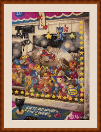 Cats Do What They Want Counted Cross Stitch Kit by Merejka