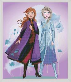 Elsa & Anna Disney - Frozen 2 Diamond Painting Kit by Vervaco