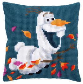 Olaf Disney - Frozen 2 Cushion Chunky Cross Stitch Kit by Vervaco