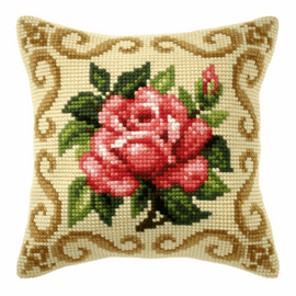 Red Rose Large Cushion Kit by Orchidea