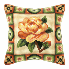 Yellow Roses Large Cushion Kit By Orchidea