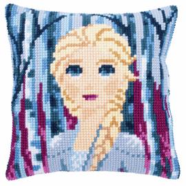 Disney - Frozen 2: Elsa Cushion Cross Stitch Kit By Vervcao