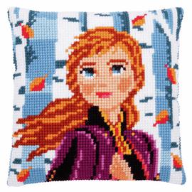 Frozen 2: Anna Cushion Cross Stitch Kit Cushion By Vervaco