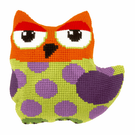 Owl Large Cushion Cross Stitch Kit By Orchidea
