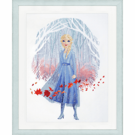Frozen 2: Elsa Disney Counted Cross Stitch Kit By Vervaco
