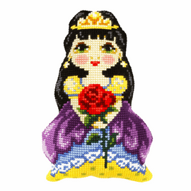 Princess With Rose Large Cushion Cross Stitch Kit By Orchidea