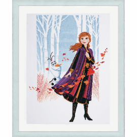 Frozen 2: Anna Disney Counted Cross Stitch Kit By Vervaco