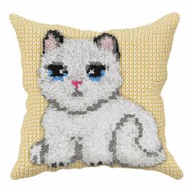 Kitten Sensory Cushion Latch Hook Kit By Orchidea