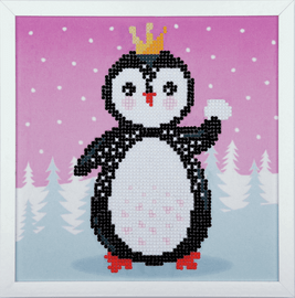 Penguin Diamond Painting Kit with Frame By Vervaco