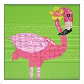 Flamingo Diamond Painting Kit with Frame By Vervaco