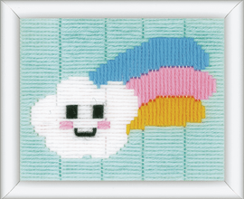Little Cloud & Rainbow Long Stitch Kit By Vervaco