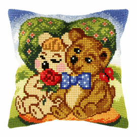 Bears Cross Stitch Kit: Cushion: Large by Orchidea