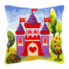 Castle Large Cushion Cross Stitch Kit By Orchidea