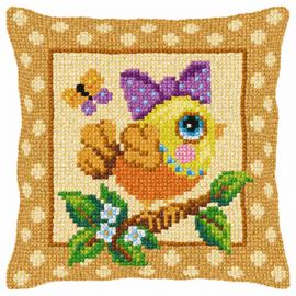 Bird Cross Stitch Cushion Kit