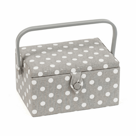 Grey Spot Sewing Box (M) by Hobby Gift