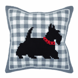 Terrier Large Cushion Cross Stitch Kit By Orchidea