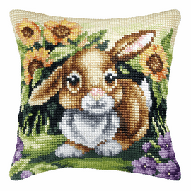 Bunny Large Cushion Cross Stitch Kit By Orchidea