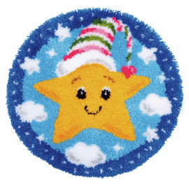 Little Star Shaped Rug Latch Hook Kit by Vervaco