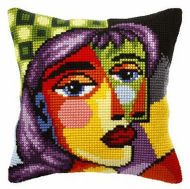 Large Cushion Picasso Inspiration 1Cross Stitch Kit by Orchidea