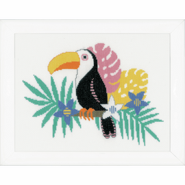 Toucan Counted Cross Stitch Kit by Vervaco