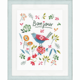 Flower Bird Counted Cross Stitch By Vervaco