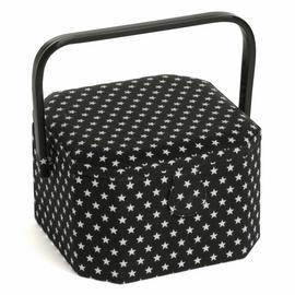 Black Star Octagonal Medium Sewing Box by Hobby craft