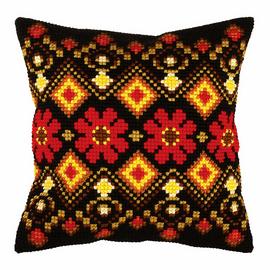 Folk Pattern large Cross Stitch Cushion Kit by Orchidea