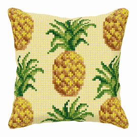 Pineapple large Cross Stitch Cushion Kit by Orchidea