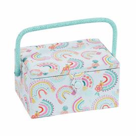Rainbow Medium Sewing Box by Hobby Gift