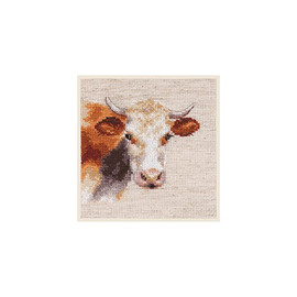 Cow Cross Stitch Kit By Alisa