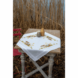 Little Bird in Nest Tablecloth Embroidery Kit By Vervaco