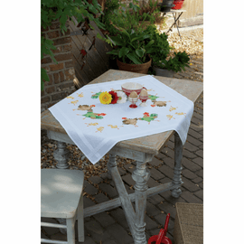 Chicken Family Tablecloth Cross Stitch Kit By Vervaco