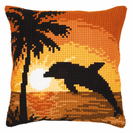 Dolphin Cushion Cross Stitch Kit By Vervaco