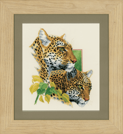 Leopard Duo Counted Cross Stitch Kit By Vervaco
