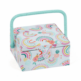 Rainbow  Small Square Sewing Box by Hobby Gift