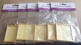 5 for the Price of 4 Square Plastic Frame for Crafts, Needlework