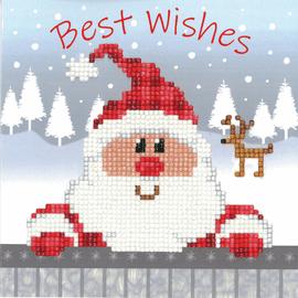 Santa Diamond Painting Greeting Card Kit By Vervaco