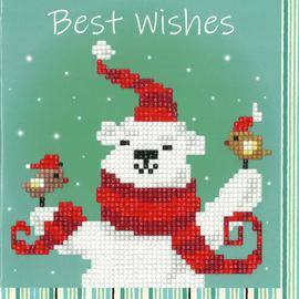 Happy Bear Diamond Painting Greeting Card Kit By Vervaco