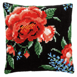 Rose Cushion Cross Stitch Kit By Vervaco