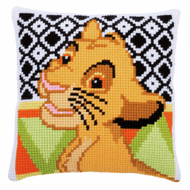 Disney Simba Cushion Cross Stitch Kit By Vervaco
