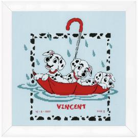 Disney Dalmatians Birth Record Counted Cross Stitch Kit By Vervaco