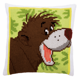 Disney Baloo Cushion Cross Stitch Kit By Vervaco