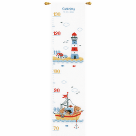 Boat Sailing Counted Cross Stitch Kit By Vervaco
