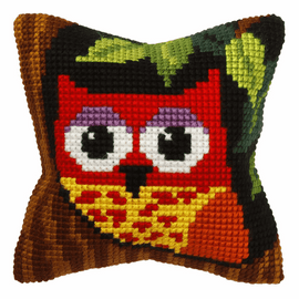Owl Cross Stitch Small Cushion Kit By Orchidea