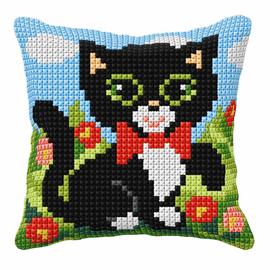 Kitten Small Cushion Cross Stitch Kit by Orchidea