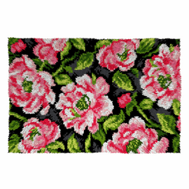 Roses Latch hook Rug Kit by Orchidea