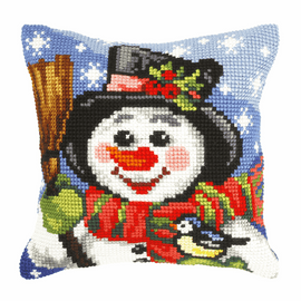 Snowman Chunky Cross Stitch Kit by Orchidea